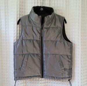 Limited Sport America puffer vest Silver, reversib